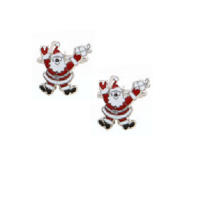 Men's Santa Claus Stainless Steel Cufflinks