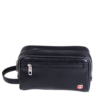 Swiss Gear Faux Leather Deluxe Toiletry Bag
