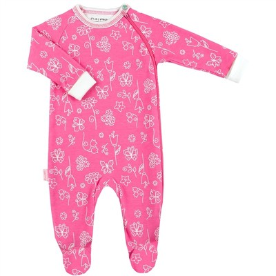 Kushies Org Sleeper Pink NB