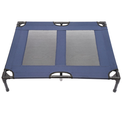 """36"""" x 30"""" Elevated Dog Bed Pet Cot Blue"""