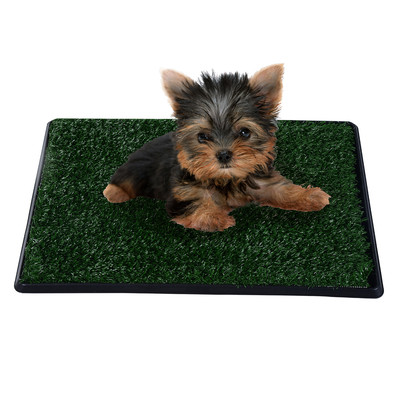 """20""""L x 25""""W Pet Dog Toilet Mat Tray 2 Layers Indoor Outdoor Artificial Grass"""