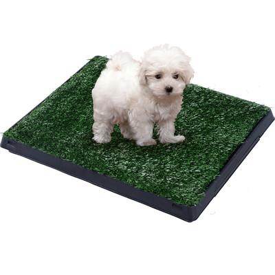 "20""L x 30""W Pet Dog Toilet Mat 3 Layers Indoor Outdoor Artificial Grass"