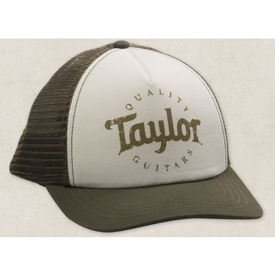 Taylor Trucker Cap - Olive/Cream - Taylor Guitars - Taylorware, Home and Gifts - 00389
