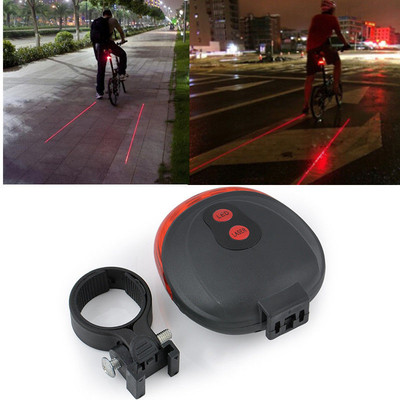Bicycle LED Strobe Tail Light with laser projected safety light-lane