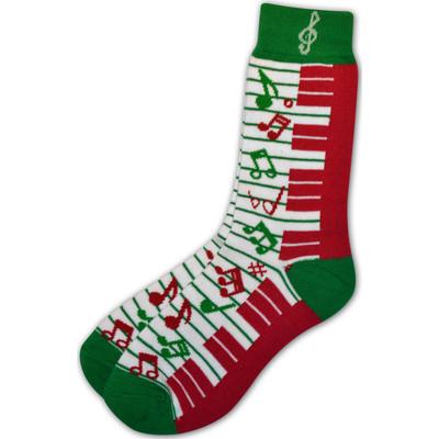 Holiday Keyboard Music Note Socks - Ladies, 9-11 - Aim - 16303