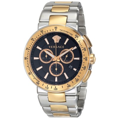 Versace Men's VFG100014 MYSTIQUE SPORT Two-Tone Stainless Steel Watch