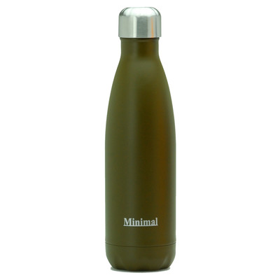 Stainless Steel Insulated Bottle - 500ml Brown