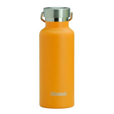 Minimal Stailess Steel Insulated Flask - 500ml Orange