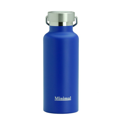 Minimal Stainless Steel Insulated Flask - 500ml Blue