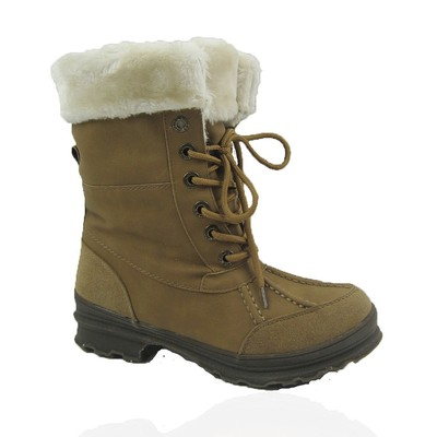 Women Winter Boots Comfy Moda Everest Size 6-12 in Tan