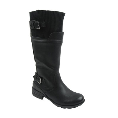 Women Winter Boots Comfy Moda Flurry Wool Lining Size 6-12 in Black