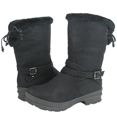 Women Winter Boots Comfy Moda Frost Size 6-12 in Black