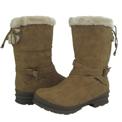 Women Winter Boots Comfy Moda Frost Size 6-12 in Tan