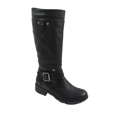 Women Winter Boots Comfy Moda Meggie Wool Lining Size 6-12 in Black