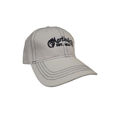 Ballcap with Navy Script Logo - White - Martin Guitar - 18H0002