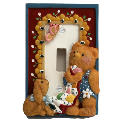 Teddy & Friends Wall Plate for Kids