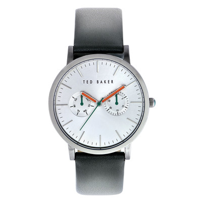 Ted Baker Men's TE1093 Smart Casual Round Black Multi-Function Silver Dial Watch