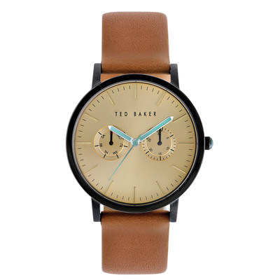 Ted Baker Men's TE1094 Smart Casual Round Black Multi-Function Gold Dial Watch