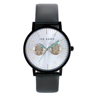 Ted Baker Men's TE1095 Smart Casual Round Black Multi-Function Light Grey Strap Watch