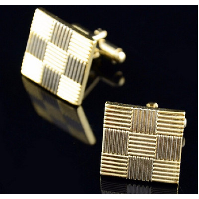 Men's Gold Patterned Cufflinks