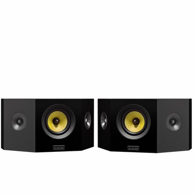 Fluance Signature Series Hi-Fi Bipolar Surround Sound Wide Dispersion Speakers for Home Theater - Natural Walnut (061783263563)