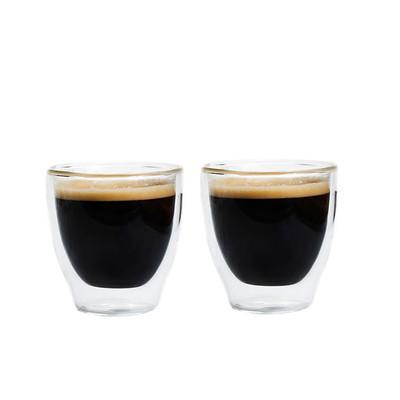 Grosche Turino Double Walled Espresso Glasses, 2 x 70ml