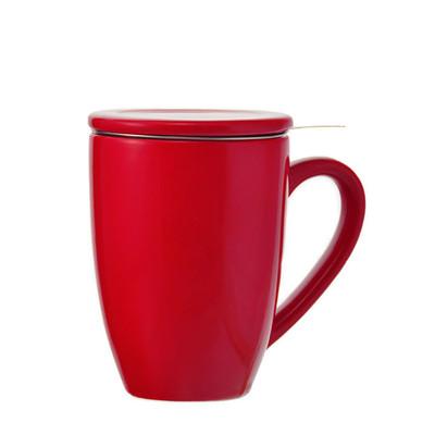 Grosche Kassel Infuser Tea Mug, Red, 330ml