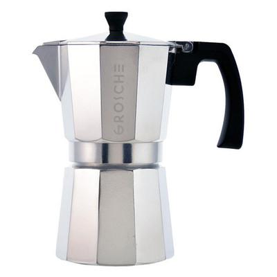 Grosche Milano Stovetop Espresso Maker, Silver, 3 cup