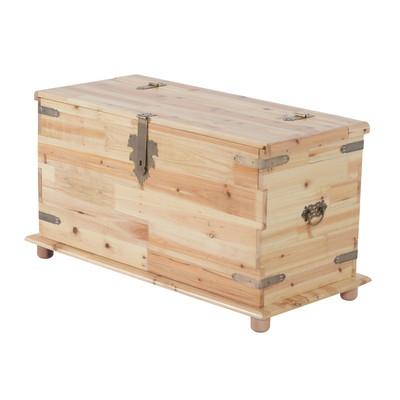 Large Wooden Storage Box Case Craft Organizer