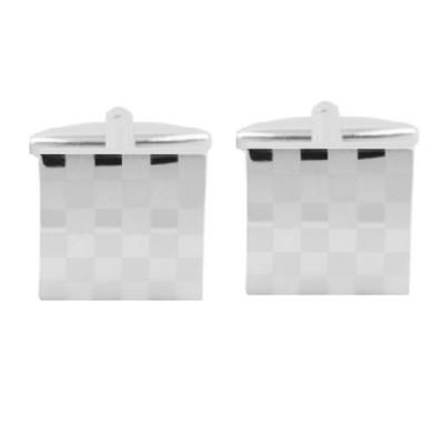 Elite Stainless Steel Checker Board Cufflinks