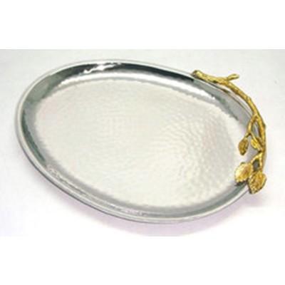 """10"""" Gilt Leaf Oval Platter"""