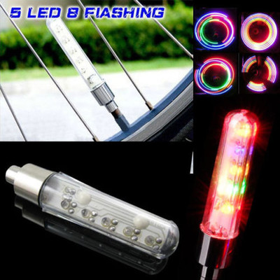 Motion Activated LED Wheel Lights for Bikes and Cars (2/Pack)