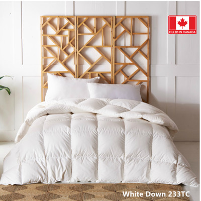 Canadian Standard White Down Duvet 233 TC 550 Loft  Queen size