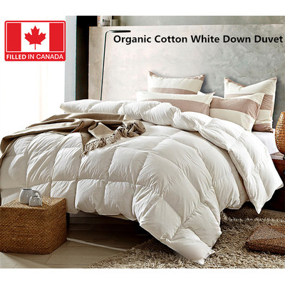 Organic Cotton Canadian White Down Duvet 233 TC 550 Loft Queen size