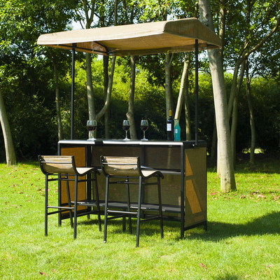 3 Piece Outdoor Mesh Cloth Canopy Bar Set