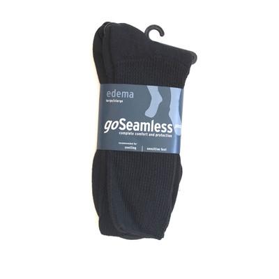 goSEAMLESS PLUS EDEMA BLACK SOCKS 2 Pack Ref G87B
