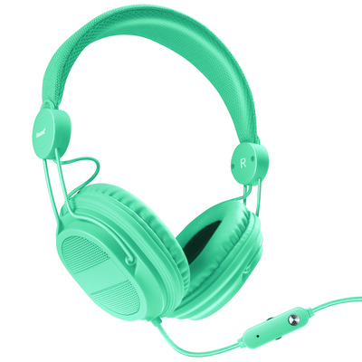 Kid  friendly Headphones with mic + music volume (845620055371)