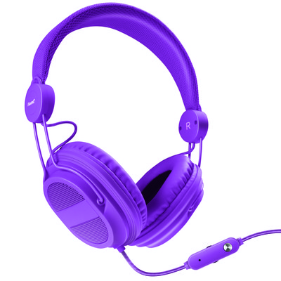 Kid  friendly Headphones with mic + music volume (845620055401)