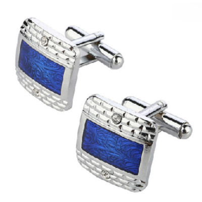 Stainless Steel Royal Blue Cufflinks - CLEARANCE SALE