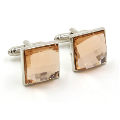 Stainless Steel Beryl Inset Cufflinks