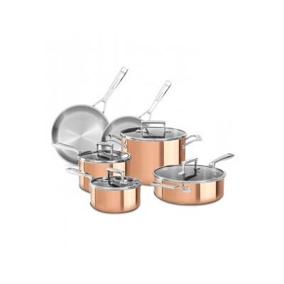 KitchenAid Tri-ply Copper 10 Piece Cookware Set