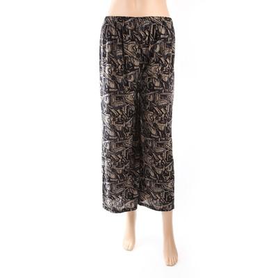 Luxanne Dark Plain Loose Pants One Size