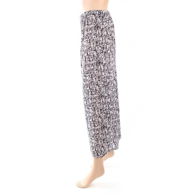 Luxanne Lined Black White Loose Pants One Size