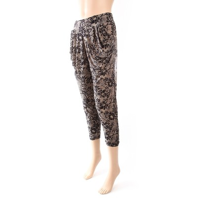 Luxanne Dark Plain Loose Pants Tight Ankle One Size