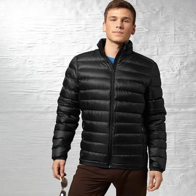 Reebok Men's Lightweight Goose Jacket, Black, Large (Z93327)
