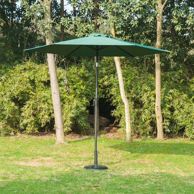 9' Patio Market Aluminum Umbrella Sun Shade Outdoor w/ Crank Green