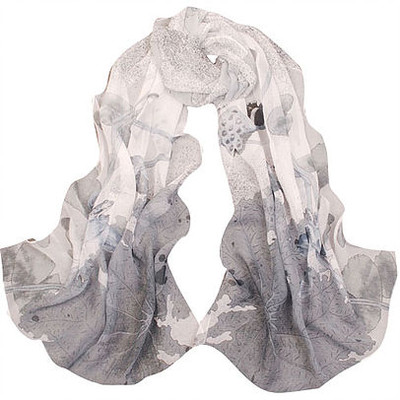 NEW! Mixed Charcoals Flower Scarf or Sarong