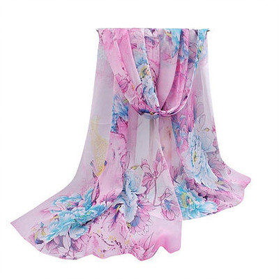 NEW FOR SPRING: Rose and Pastel Peony Garden Scarf or Sarong