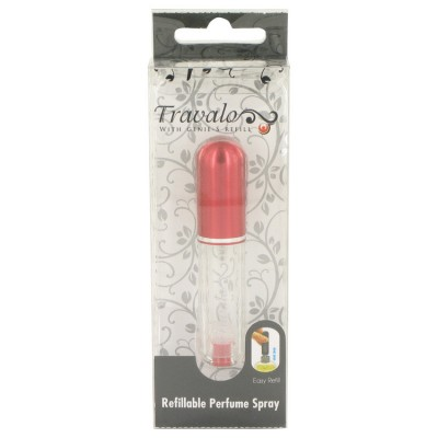 Travalo Travel Spray 4 ml Mini Travel Refillable Spray with Cap Refills from Any Fragrance Bottle (Red) for Women