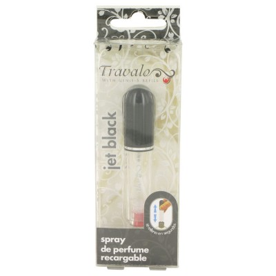 Travalo Travel Spray 4 ml Mini Travel Refillable Spray with Cap Refills from Any Fragrance Bottle (Jet Black) for Women